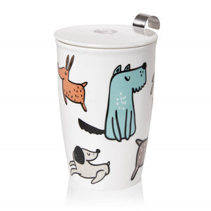 Double-wall Porcelain Mug with Infuser - Dogs