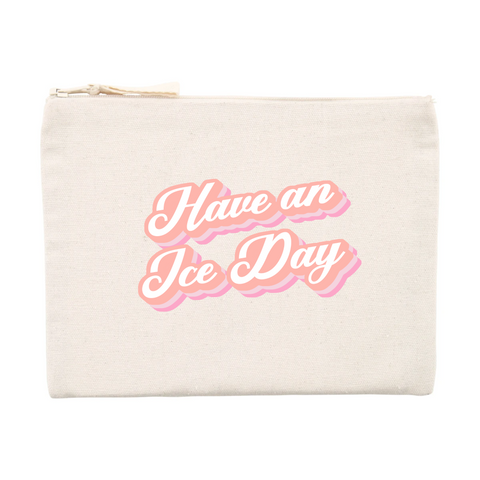 POCHETTE - TROUSSE RECYCLÉE - ICE DAY ROSE