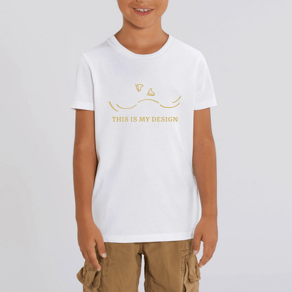 T-SHIRT ENFANT BIO - DESIGN GOLD