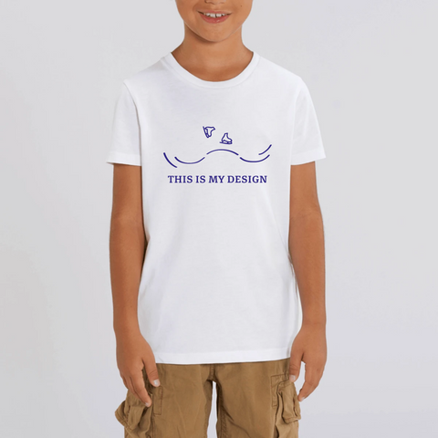 T-SHIRT ENFANT BIO - DESIGN BLEU