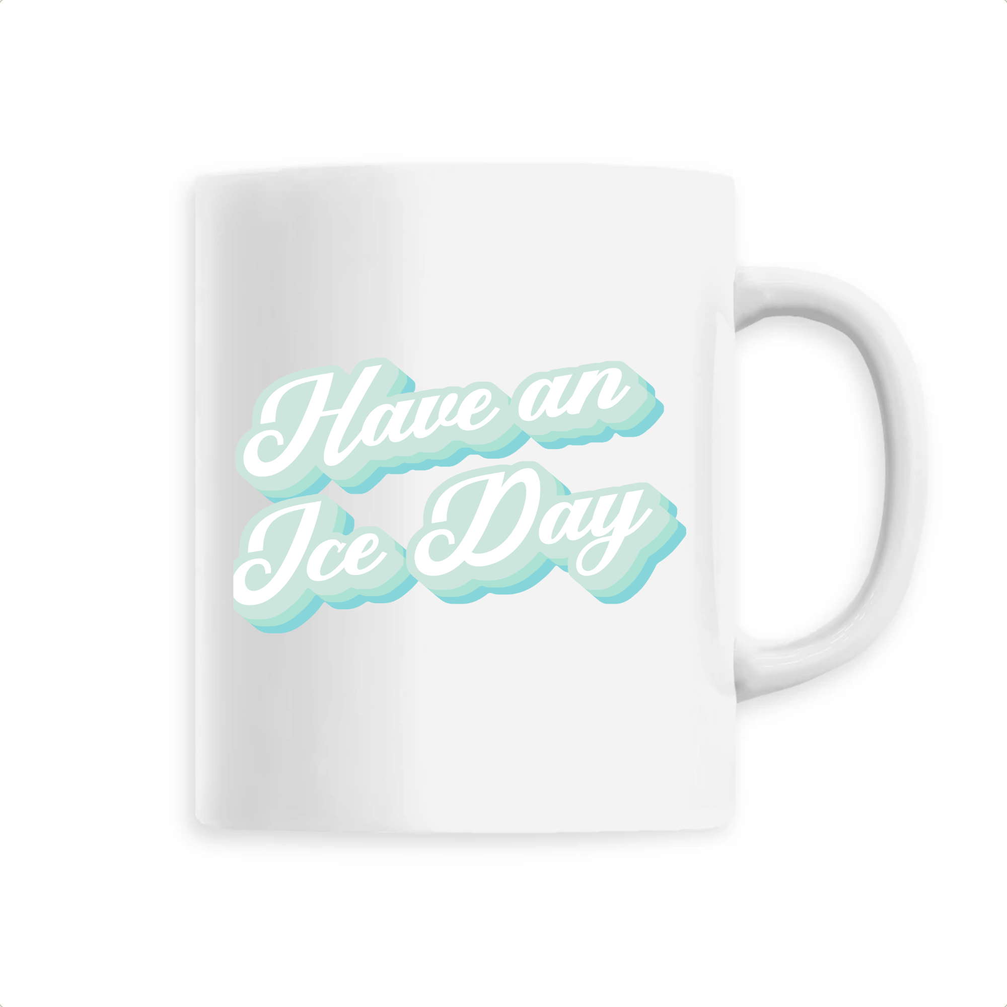 MUG CÉRAMIQUE - ICE DAY BLUE