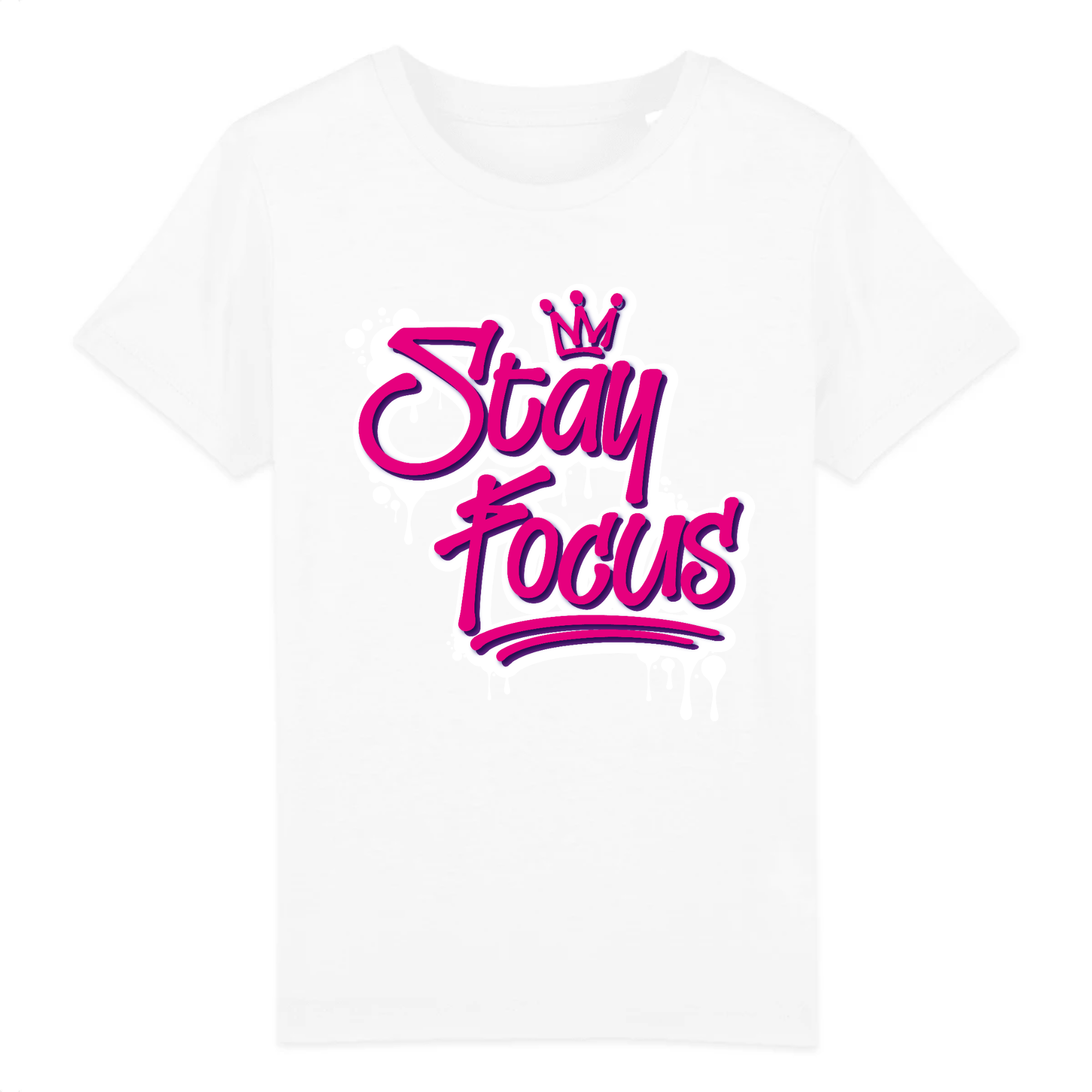 STAY FOCUS  - COTON BIO - PINK KID