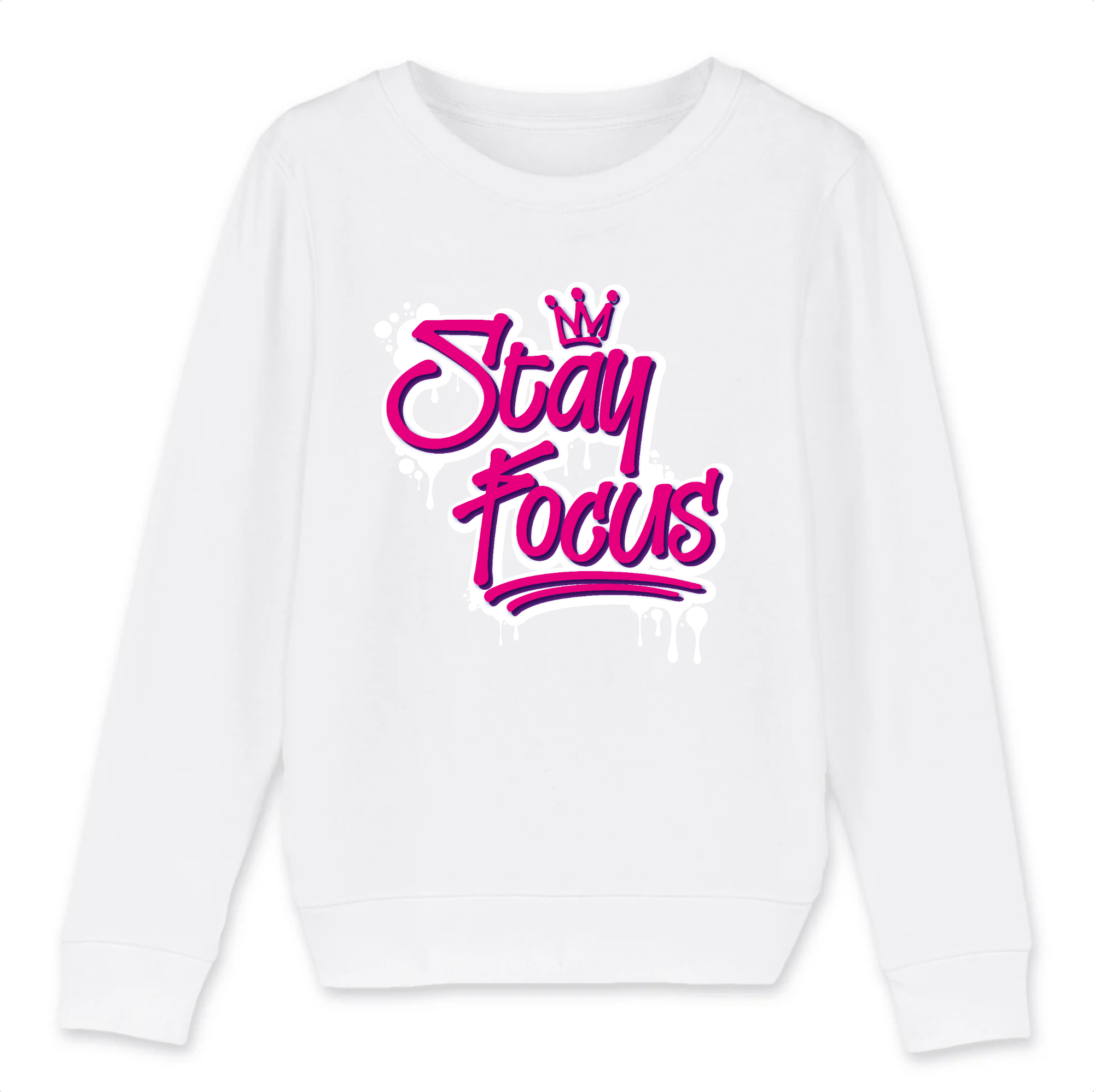 STAY FOCUS  - COTON BIO - PINK