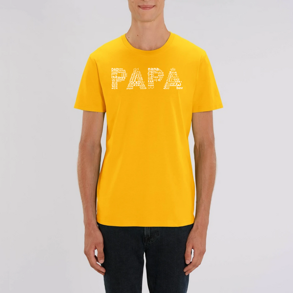 T-SHIRT COTON BIO - PAPA WORLD BLANC