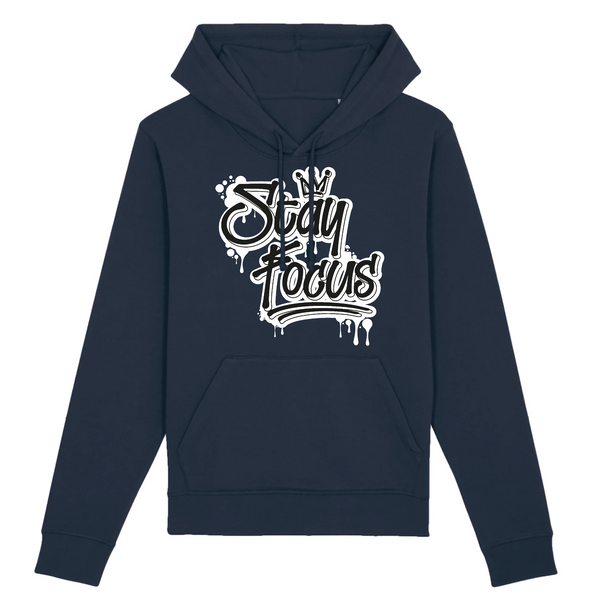 STAY FOCUS  - COTON BIO - BLACK & WHITE