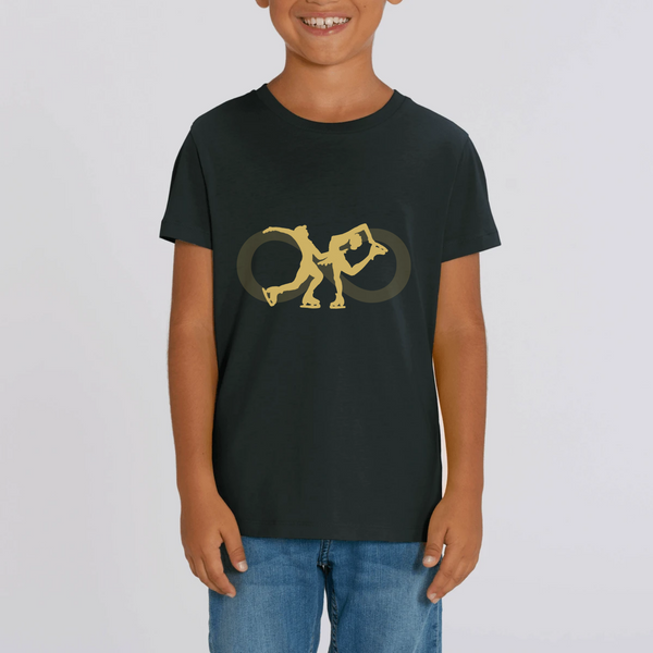 T-SHIRT ENFANT BIO - COUPLE GOLD