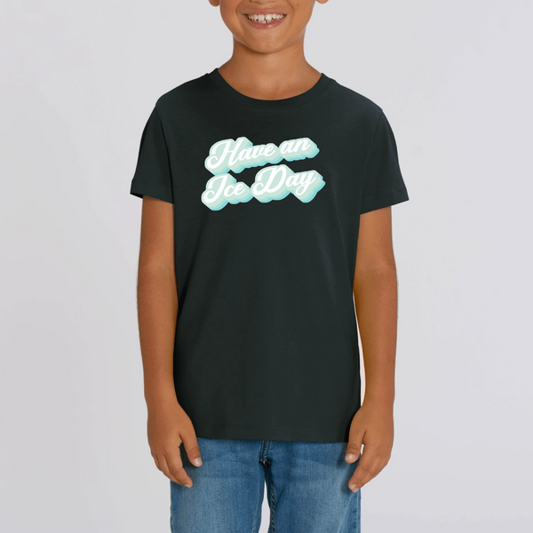 T-SHIRT ENFANT BIO - ICE DAY BLEU