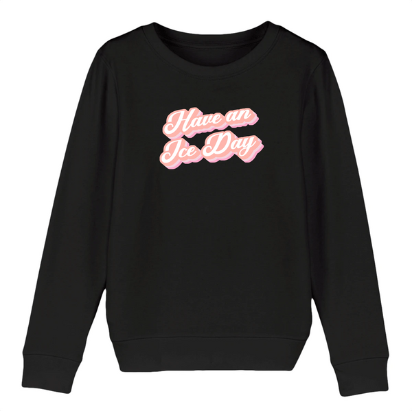 SWEAT ENFANT BIO - ICE DAY ROSE