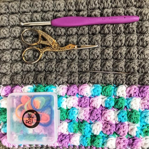 Bobbles to the Rescue; hot pad, pot holder, maker tool pad