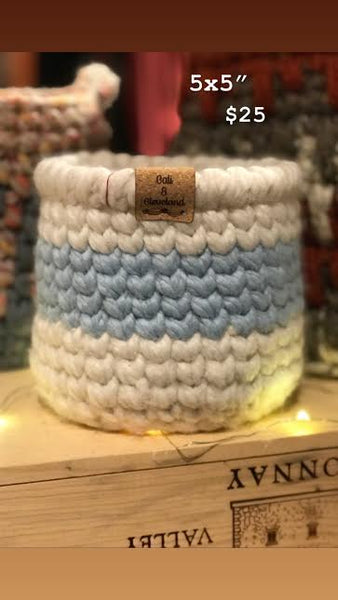 Small Crochet Basket by Cali & Cleveland