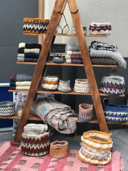 Handmade Crochet Baskets by Cali & Cleveland