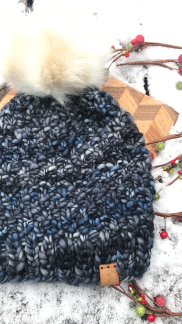 Lux wool hat with faux fur pom by Cali & Cleveland