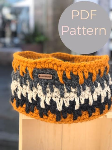 Crochet Basket Pattern by Cali & Cleveland