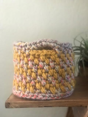 Color Work Crochet Basket by Cali & Cleveland