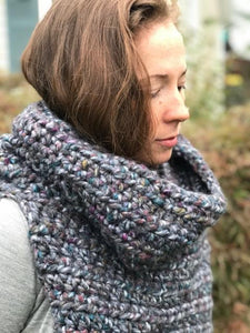 The Mega Cowl: part cowl, part poncho, part hat. By Cali & Cleveland