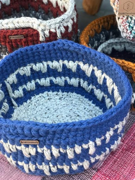 Long Line Crochet Basket by Cali & Cleveland