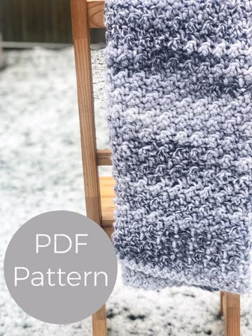 Crochet Pattern - The Snowfall Throw - PDF Download