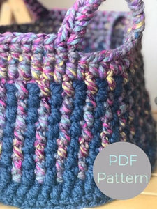 Fine tooth comb crochet basket Pattern by Cali & Cleveland