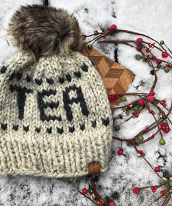 Tea Lovers Unite! Handmade winter hat by Cali & Cleveland