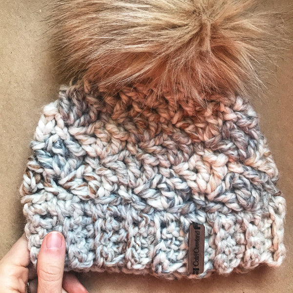 Toddler Everday Beanie in ❤️ Big Poms