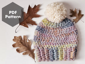 Crochet Pattern - Sorbet Beanie - PDF Download