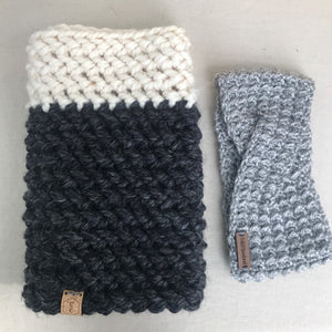 Crochet Color Block Cowl by Cali & Cleveland