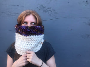 Lux Color Block Cowl, 100% wool hand dyed wool by Cali & Cleveland