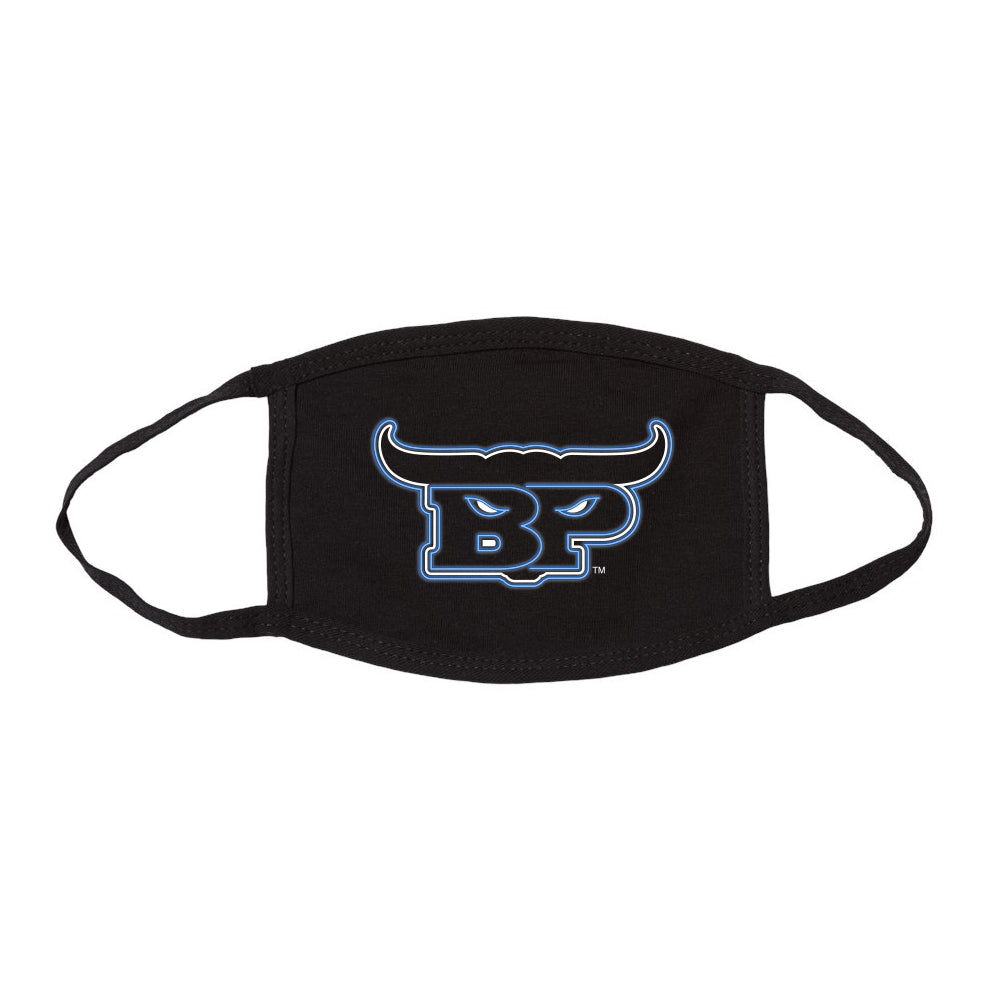 Brennan Poole Blue Neon | Black Face Mask