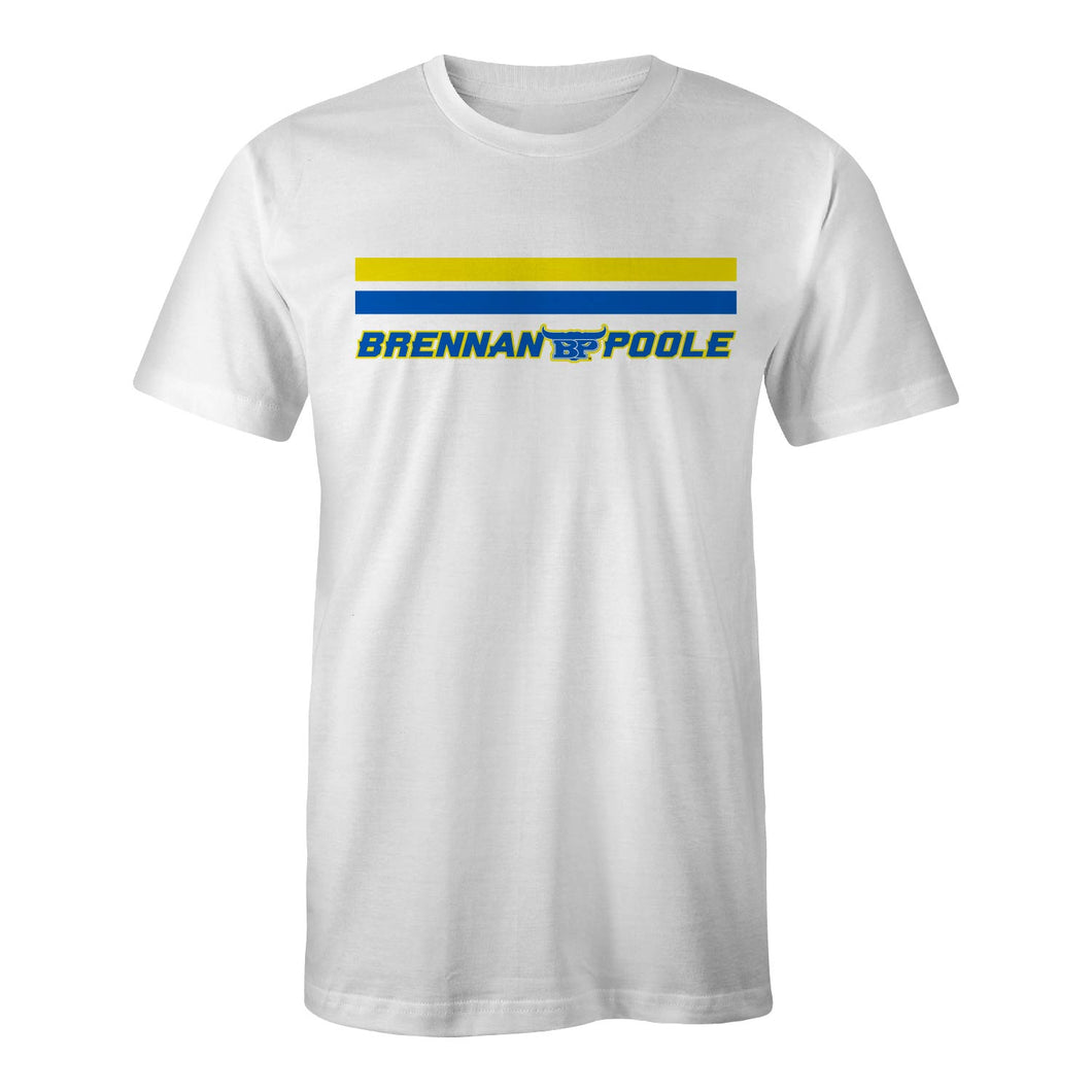 Brennan Poole Race Day | White Unisex Tee