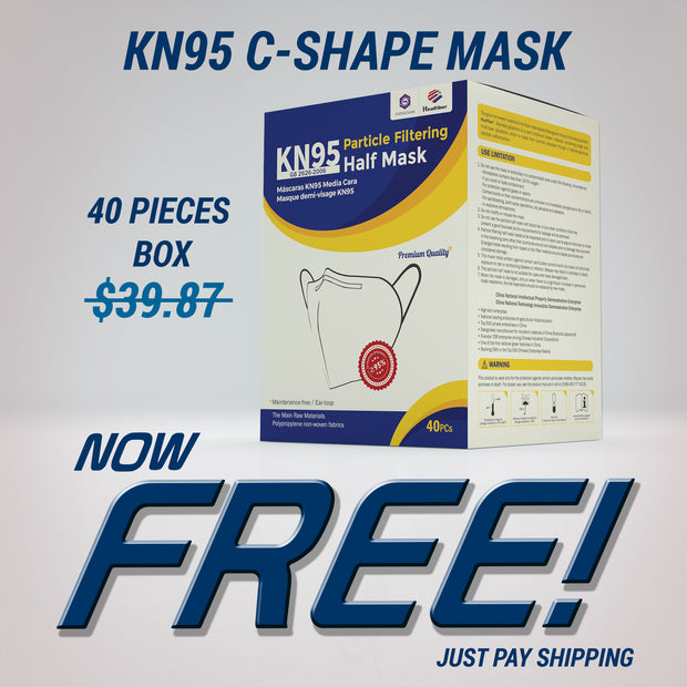 KN95 Mask - C-Shape Design - Just Pay Shipping