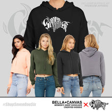 Load image into Gallery viewer, Women's 'Seven One Six' Drop Shoulder Cropped Hoodies