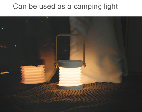 Foldable modern lantern lamp rechargeable LED light can be used as camping light