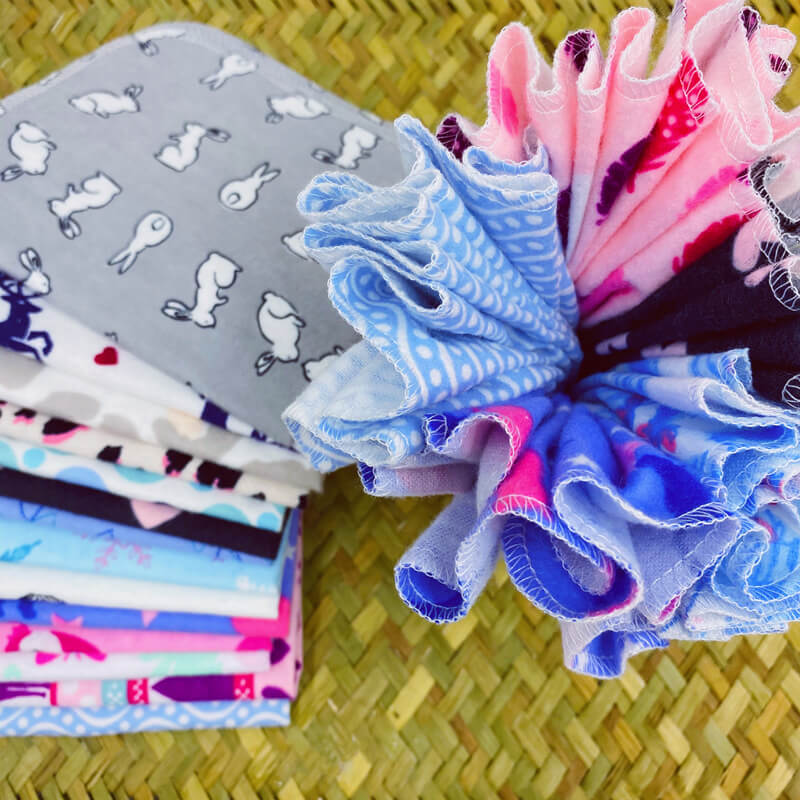 Organic cotton towels with cute prints