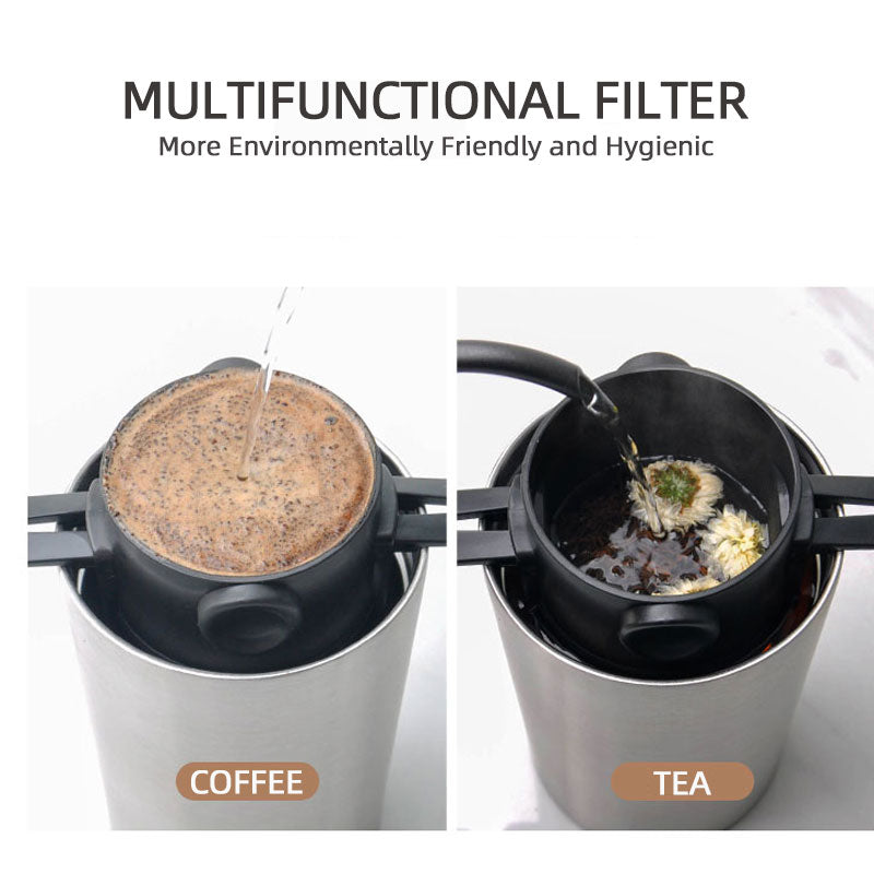 Reusable coffee filter suitable for both coffee brewing & making tea
