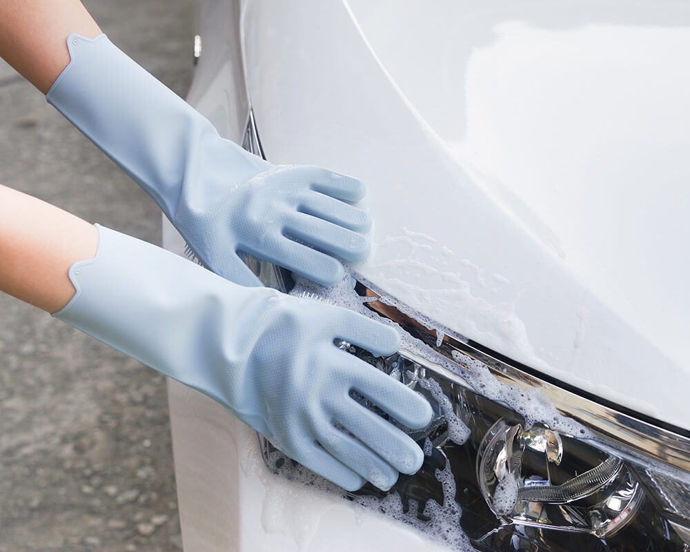 silicone cleaning gloves suitable for washing cars