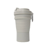 750ml collapsible silicone coffee cup in grey