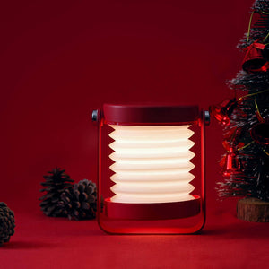 Foldable LED night light modern lantern lamp in red color