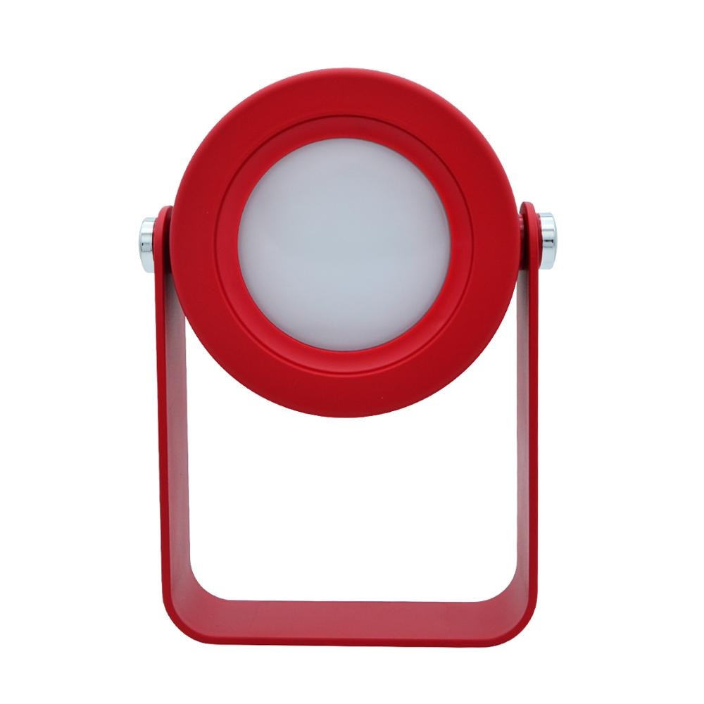 Foldable touch control dimmable reading LED night light portable lantern lamp in red