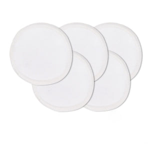 Reusable bamboo makeup remover pads in white