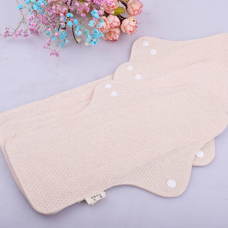 Reusable organic cotton menstrual pads