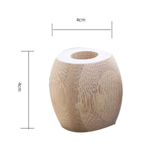 The measurement of bamboo toothbrush holder