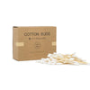 Bamboo cotton swabs in white color