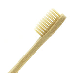 beige adult bamboo toothbrush