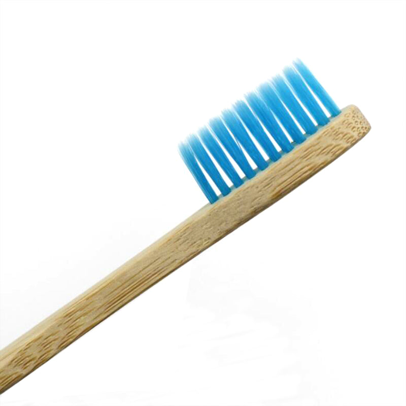 blue adult bamboo toothbrush
