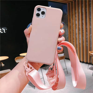 Biodegradable Silicone iPhone Case with Crossbody Lanyard