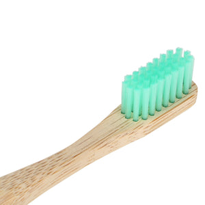 green adult bamboo toothbrush