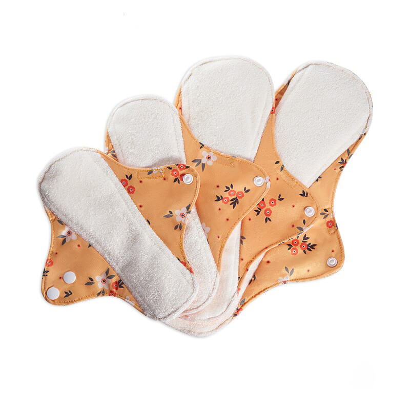 mora mona reusable sanitary cloth pads, 4pcs/set, print style-EF336