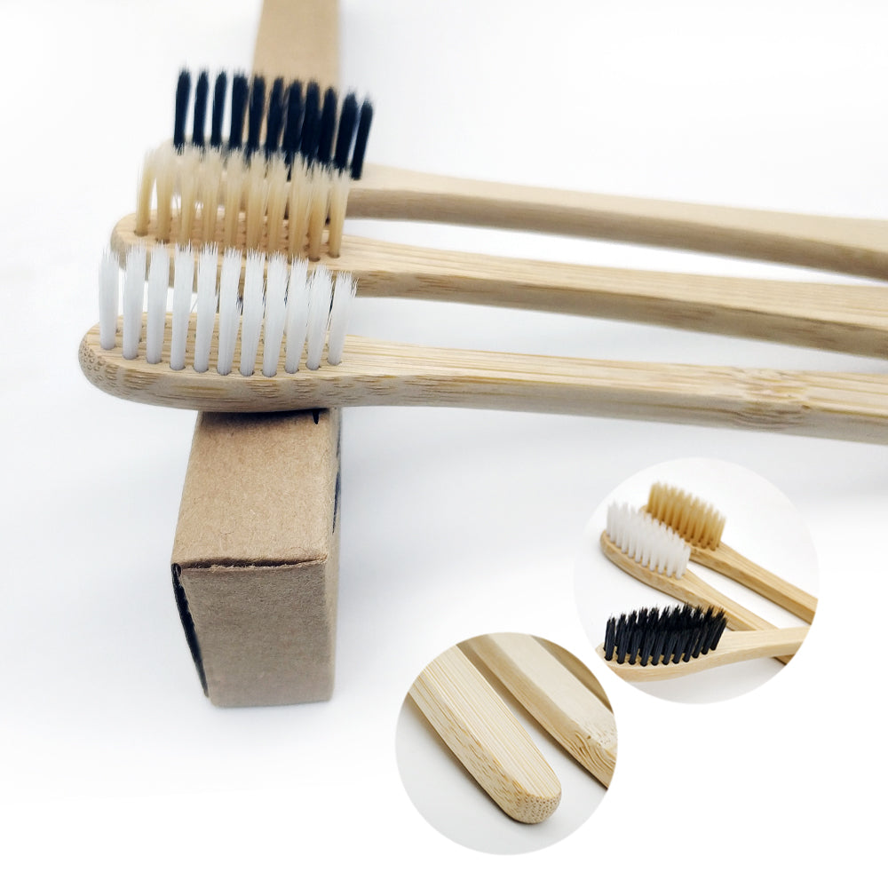 Biodegradable Bamboo Toothbrush - Adult (10pcs/pack)
