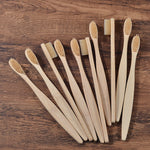 natural bamboo toothbrush for adult in beige color