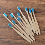 natural bamboo toothbrush for adult in blue color